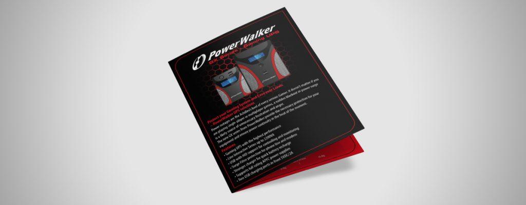 Projekt ulotki dla marki Power Walker2