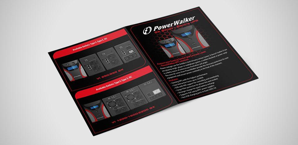Projekt ulotki dla marki Power Walker